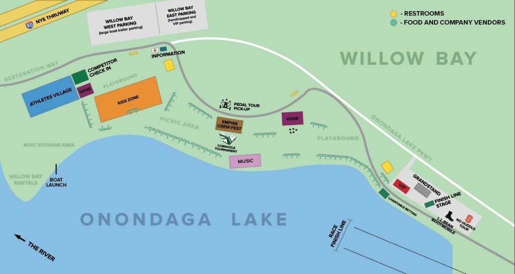 The Map - Onondaga Cup & LakeFest
